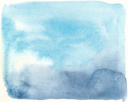 tones: watercolor blue tones plain textures abstract background Stock Photo