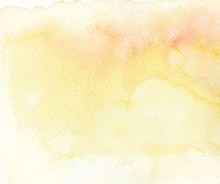 faded: faded light tones yellow abstract watercolor background Stock Photo
