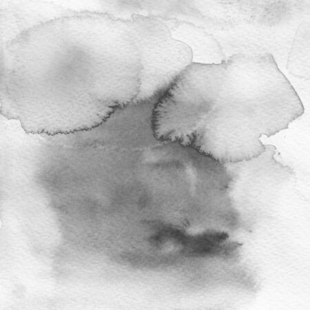 monotone: monotone black watercolor wet ink textures abstract background Stock Photo