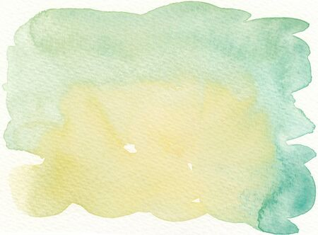 faded: faded green yellow abstract wet watercolor background