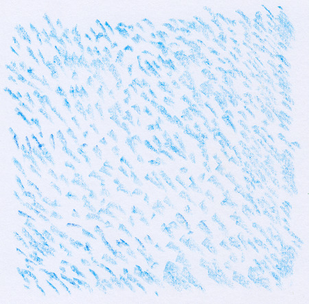 background textures: blue crayon dot textures on white paper background Stock Photo