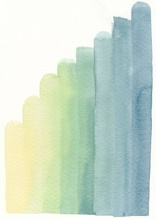 layers levels: stage level layer shading yellow blue green abstract watercolor background