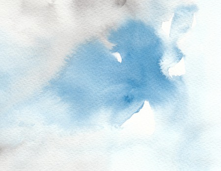 background textures: blue gray abstract watercolor wet textures background Stock Photo