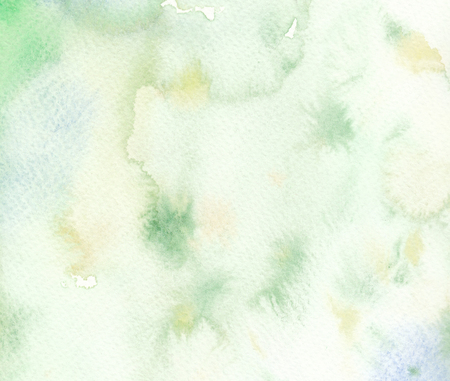 faded: faded green wet textures watercolor background