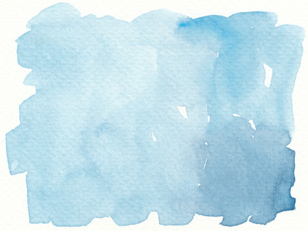 simple plain abstract blue watercolor background