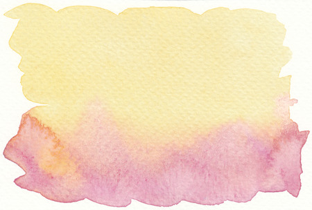 faded: faded yellow pink abstract watercolor background Stock Photo