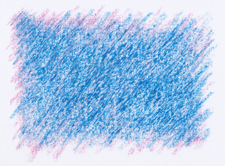 blue crayon drawings on purple pink abstract background Imagens