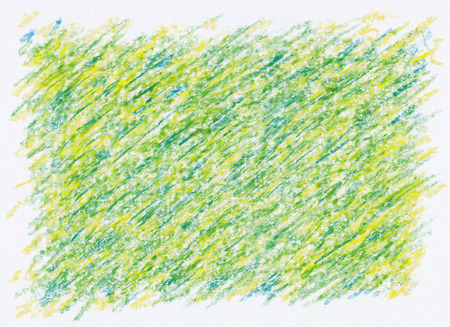rough crayon textures abstract yellow green background Imagens