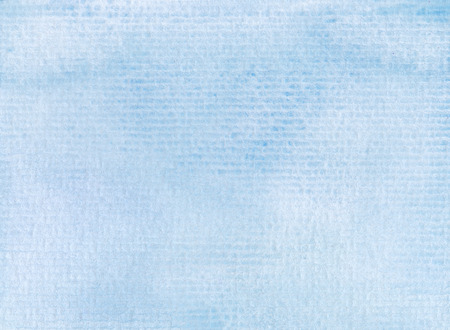 fade: watercolor background paint on linear paper textures in light blue tones Stock Photo