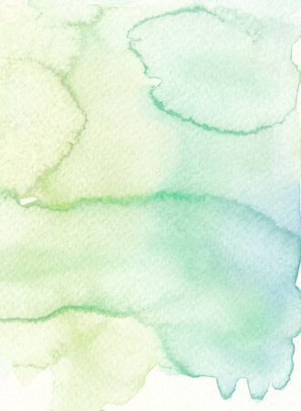 wet textures abstract faded green tones watercolor background Imagens