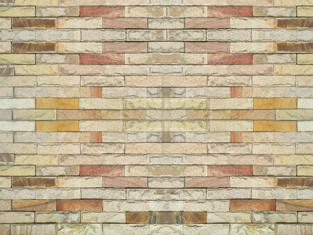 Beautiful of stone brick wall floor background Banco de Imagens