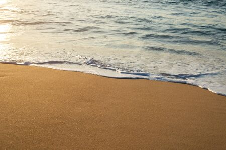 Sea waves on the beach, beautiful soft foam