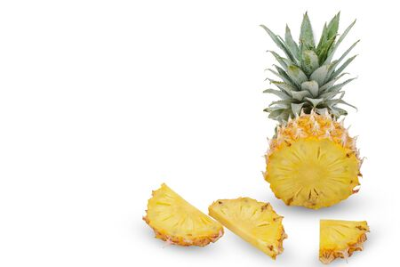 Pineapple slide on white background 版權商用圖片