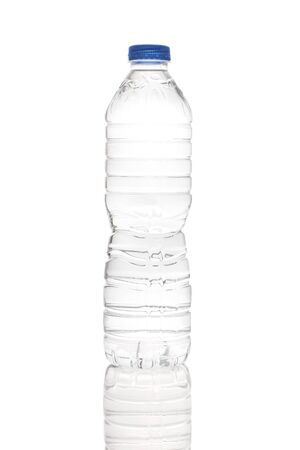 Healthy bottled water on a white background, clipping path