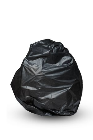 Isolated of garbage bag on white 版權商用圖片