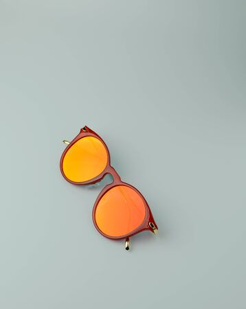 Bright orange sunglasses for the summer season