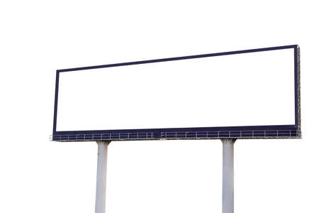 Billboard blank on white background for an outdoor advertising poster