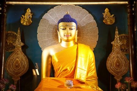 bihar: Golden Buddha in the Mahabodhi Temple, Bodh Gaya, Bihar, India