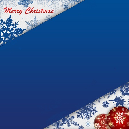 christmas abstract background blue  photo