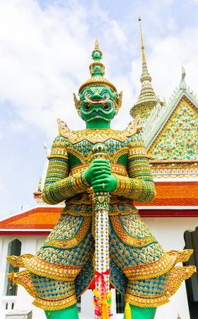 southeastern: Demon Guardian at wat Arun in Bangkok Thailand Stock Photo