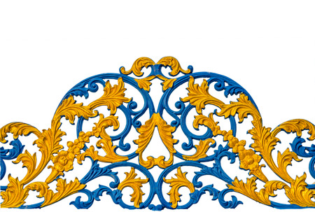 beautiful iron gate detail. photo