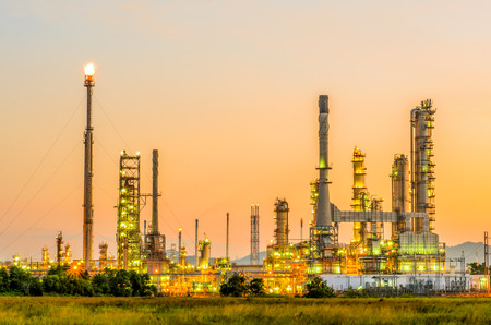 petrochemical: Petrochemical plant at twilight