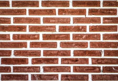 old brick wall: Old brick wall background in red color Stock Photo