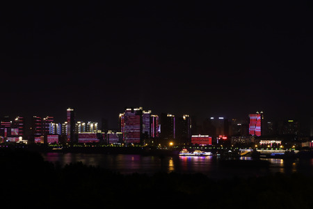 Night view of wuhan Stock Photo