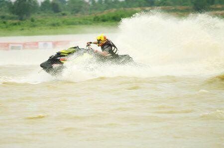 jet skier: Jet Ski PRO ASIAN GRAND PRIX 2012 -  on Bungborraped Nakhonsawan Province in Thailand : August 12, 2012 Editorial