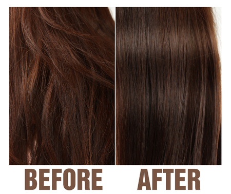 HAIR BEFORE AFTER / BROWN HAIR