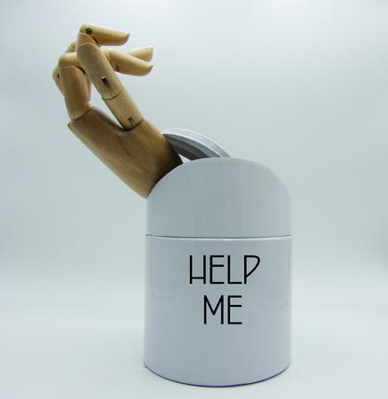 Pidiendo ayuda, pidiendo ayuda concepto