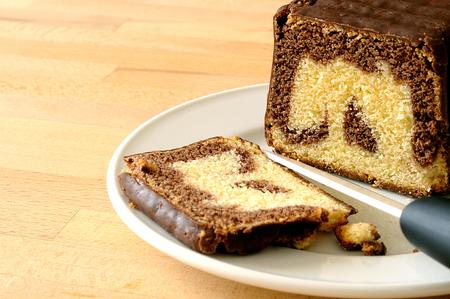 Chocolate marbled plumcake