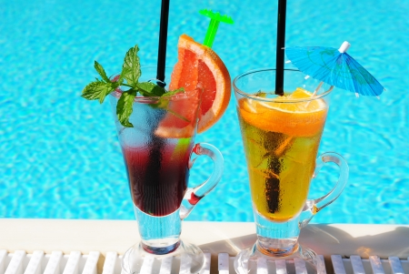nonalcoholic:  fresh frozen non-alcoholic cocktail by the pool