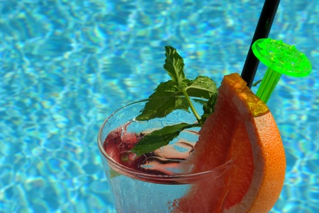 non alcoholic beer:  fresh frozen non-alcoholic cocktail by the pool