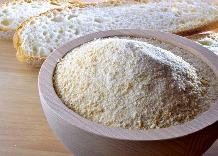 breadcrumbs: breadcrumbs in a wooden bowl