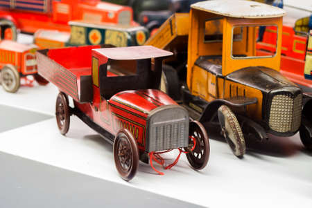 tin toy cars made by hand dating back to the early nineteen hundred photo
