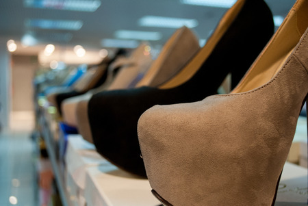 Shop with a display of shoes to suit all tastes photo