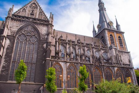 liege: the Cathedral of St. Louis of Liege in Belgium Stock Photo