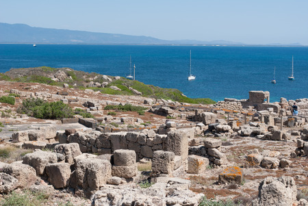 Archaeological site located on the Sea of Sardinia dating back to the Phoenicians