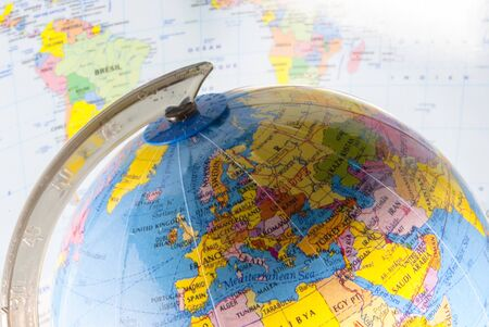 study geography, oceans, countries and continents with the world map