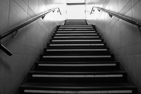 strangeness: spooky staircase of stone and metal of the Milan subway