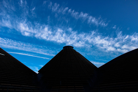 haunting: ultramodern buildings similar to the ancient Egyptian pyramids