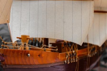 keel: model of a sailing ship antique handmade