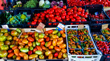 food bank with fresh fruit for sale