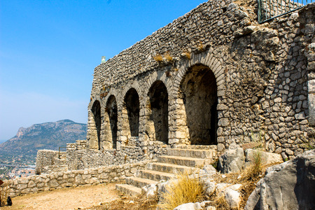 monte sant'angelo: archaeological site of the Temple of Jupiter Anxur on the Monte SantAngelo located near Rome