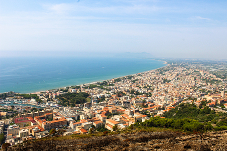 On the Roman coast is the town of Terracina