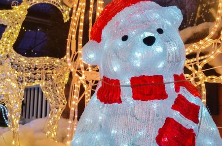 leds: Christmas bear made of LEDs