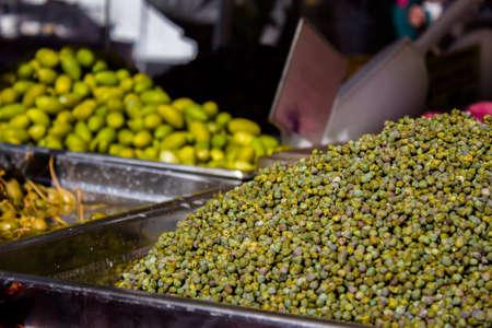 natual: a cascade of fine Italian dried peas Stock Photo