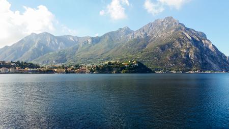 the intense blue of the alpine lake ` Standard-Bild