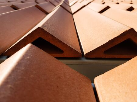 so many tiles form a roof Stock Photo